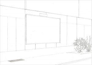 Petra Trenkel: Altes Bieberhaus, 2010, Bleistift auf Papier, 21 × 29,7 cm