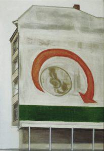 Petra Trenkel: Wand I, 2003, Öl auf Nessel, 65 ×45 cm