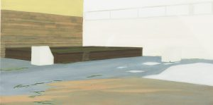 Petra Trenkel: Hh, 2005, Öl auf Nessel, 30 × 60 cm