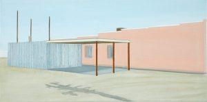 Petra Trenkel: library, 2006, Öl auf Nessel, 45,5 × 91 cm