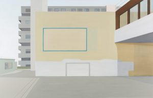 Petra Trenkel: Front de Seine I, 2013, Öl auf Nessel, 110 × 170 cm