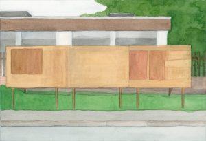 Petra Trenkel: Hohengeiss III, 2013, Aquarell auf Papier, 21 × 31 cm
