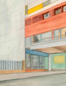 Petra Trenkel: Kotti IV, 2012, Aquarell auf Papier, 34 × 26 cm