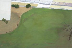 Petra Trenkel: Mainpark, 2004, Öl auf Nessel, 60 × 90 cm