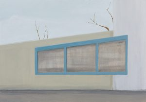 Petra Trenkel: Platte IV, 2012, Acryl auf Holz, 35 × 50 cm
