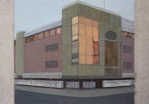 Petra Trenkel: Platte V, 2012, Acryl auf Holz, 35 × 50 cm