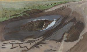 Petra Trenkel: Redlin III, 2015, Öl auf Nessel, 45 × 75 cm