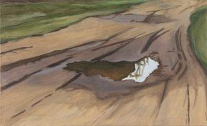 Petra Trenkel: Redlin IV, 2015, Öl auf Nessel, 55 × 90 cm