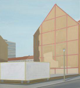 Petra Trenkel: Wand Mitte, 2009, Öl auf Nessel, 55 × 50 cm