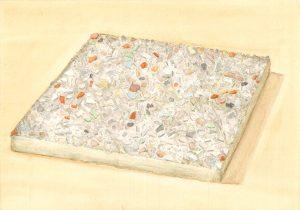 Petra Trenkel: Waschbeton I, 2014, Aquarell auf Papier, 20 × 28 cm
