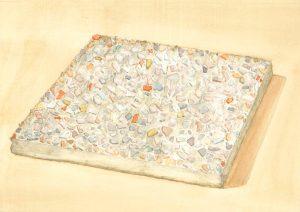 Petra Trenkel: Waschbeton II, 2014, Aquarell auf Papier, 20 × 28 cm