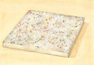 Petra Trenkel: Waschbeton IV, 2014, Aquarell auf Papier, 20 × 28 cm