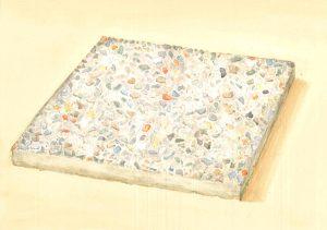 Petra Trenkel: Waschbeton V, 2015, Aquarell auf Papier, 20 × 28 cm