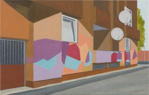Petra Trenkel: Zossener, 2009, Öl auf Nessel, 35 × 55 cm