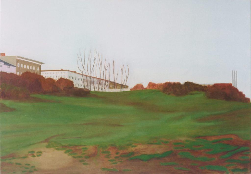 Petra Trenkel: Park I, 2002, Öl auf Nessel, 80 × 120 cm