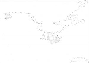 Petra Trenkel: Jardin des plantes II, 2010, Bleistift auf Papier. 35 × 47 cm