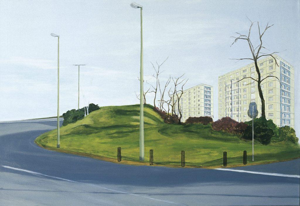 Petra Trenkel: Nordring, 2002, Öl auf Nessel, 100 × 145 cm