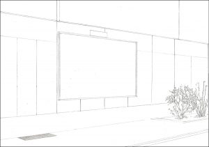 Altes Bieberhaus, 2010 Bleistift auf Papier 21 × 29,7 cm