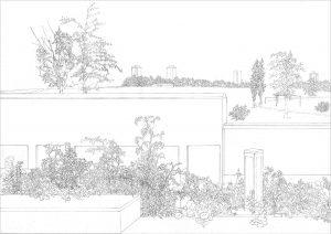 Petra Trenkel: Viktoriapark I, 2005, Bleistift auf Papier, 29,7 × 42 cm