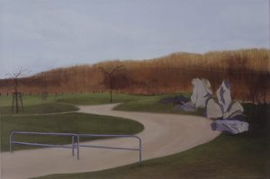 Petra Trenkel: Park II, 2002, Öl auf Nessel, 50 × 75 cm