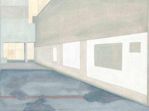 Petra Trenkel: Ivry, 2010, Aquarell auf Papier, 23 × 31 cm