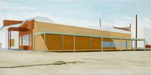 Petra Trenkel: MI/opposite, 2006, Öl auf Nessel, 45,5 × 91 cm
