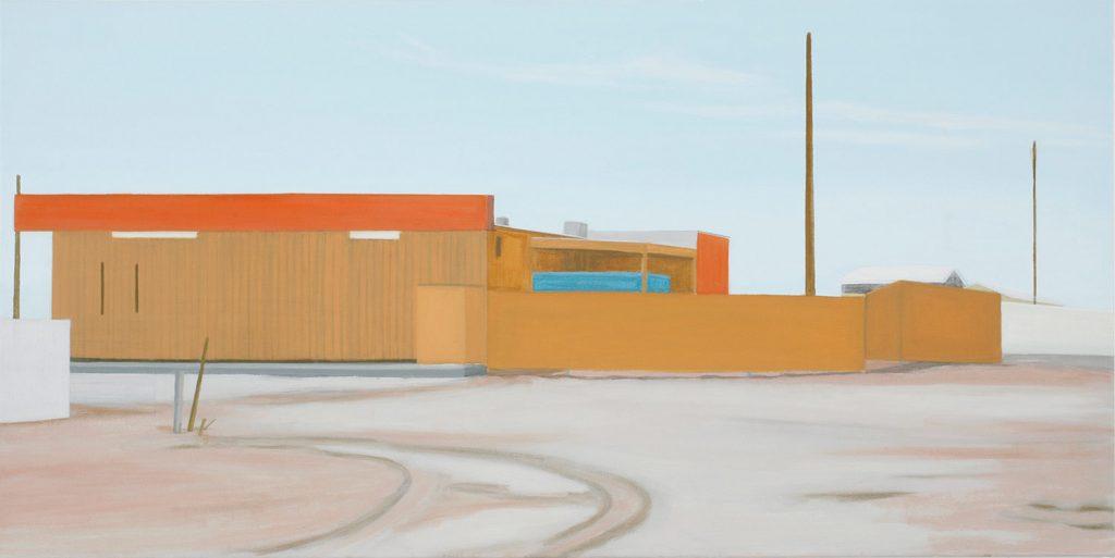 Petra Trenkel: back, 2006, Öl auf Nessel, 55 × 110 cm