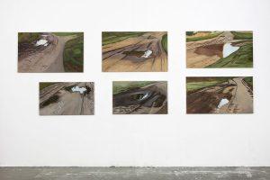 Petra Trenkel: Redlin II-VII, 2015, Ausstellungsansicht