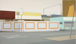 Petra Trenkel: Auswärts, 2007, Öl auf Nessel, 85 × 145 cm