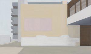 Petra Trenkel: Front de Seine I, 2013, Öl auf Nessel, 65 × 85 cm