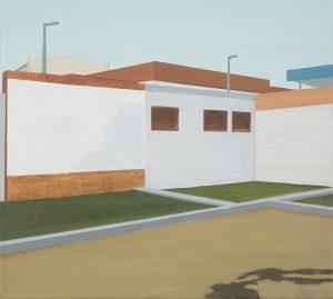 Petra Trenkel: Hof, 2007, Öl auf Nessel, 50 × 45 cm