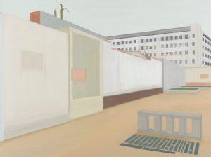 Petra Trenkel: Hof II, 2014, Öl auf Nessel, 90 × 120 cm