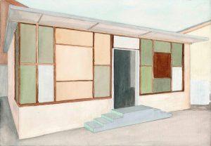 Petra Trenkel: Imbiss, 2011, Aquarell auf Papier, 22 × 31 cm