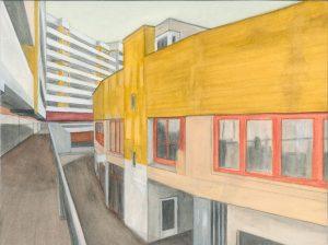 Petra Trenkel: Kotti V, 2012, Aquarell auf Papier, 28 × 37 cm
