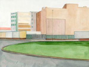 Petra Trenkel: Moritzplatz, II, 2012, Aquarell auf Papier, 30 × 38 cm