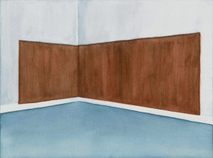 Petra Trenkel: Paneele, 2010, Aquarell auf Papier, 23 × 31 cm