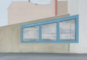 Petra Trenkel: Platte III, 2012, Acryl auf Holz, 35 × 50 cm