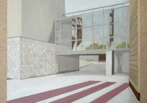Petra Trenkel: Platte VI, 2012, Acryl auf Holz, 35 × 50 cm