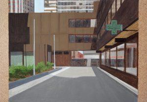 Petra Trenkel: Platte VII, 2012, Acryl auf Holz, 35 × 50 cm