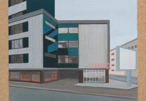 Petra Trenkel: Platte VIII, 2013, Acryl auf Holz, 35 × 50 cm
