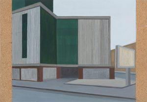 Petra Trenkel: Platte IX, 2013, Acryl auf Holz, 35 × 50 cm