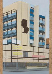 Petra Trenkel: Platte XI, 2013, Acryl auf Holz, 35 × 50 cm