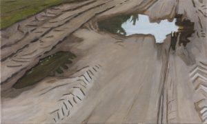 Petra Trenkel: Redlin II, 2015, Öl auf Nessel, 45 × 75 cm