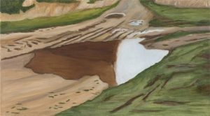 Petra Trenkel: Redlin VI, 2015, Öl auf Nessel, 50 × 90 cm