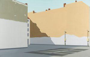 Petra Trenkel: Urban II, 2009, Öl auf Nessel, 100 × 155 cm