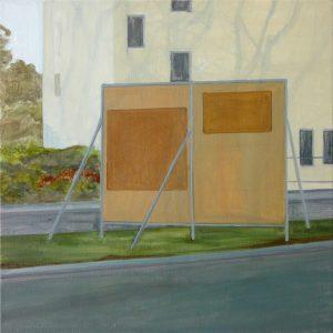 Petra Trenkel: Wahltafel I, 2016, Öl auf Nessel, 60 × 60 cm