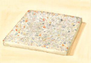 Petra Trenkel: Waschbeton III, 2014, Aquarell auf Papier, 20 × 28 cm