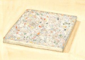 Petra Trenkel: Waschbeton VI, 2014, Aquarell auf Papier, 20 × 28 cm