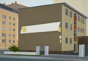Petra Trenkel: Werkstatt, 2008, Öl auf Nessel, 45 × 65 cm