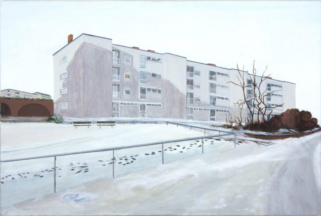 Petra Trenkel: Hansa, 2001, Öl auf Nessel, 80 × 120 cm